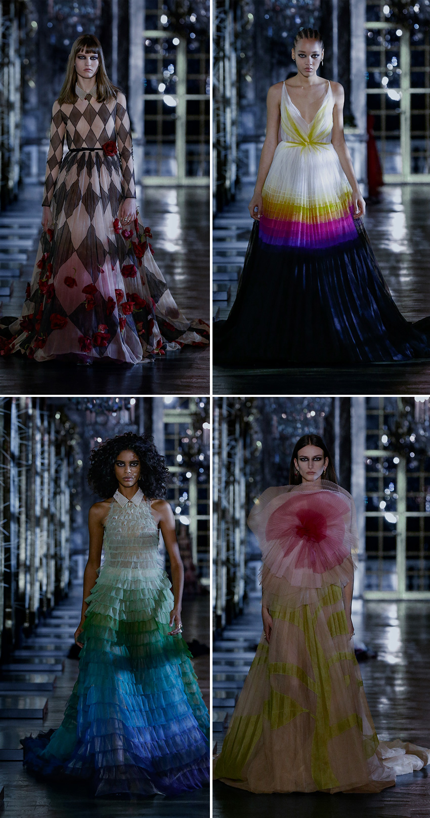 Dior Ready-to-Waer Autumn-Winter 2021 Evening gowns are fit for princesses