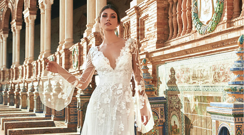 Marchesa for Pronovias bridal collection includes tulle and lace dresses Perfect Wedding Magazine