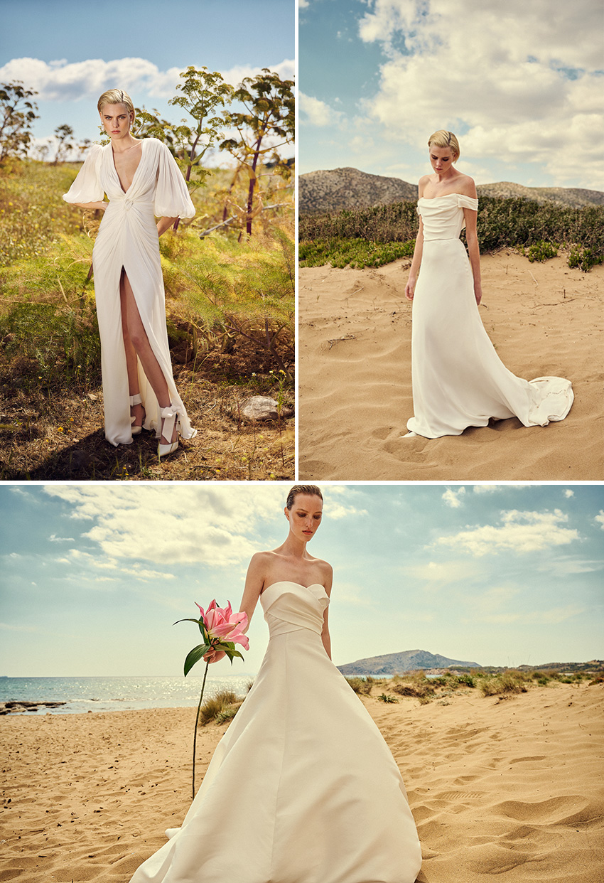 Costarellos Spring 2022 bridal collection inspired by Greece's natural beauty