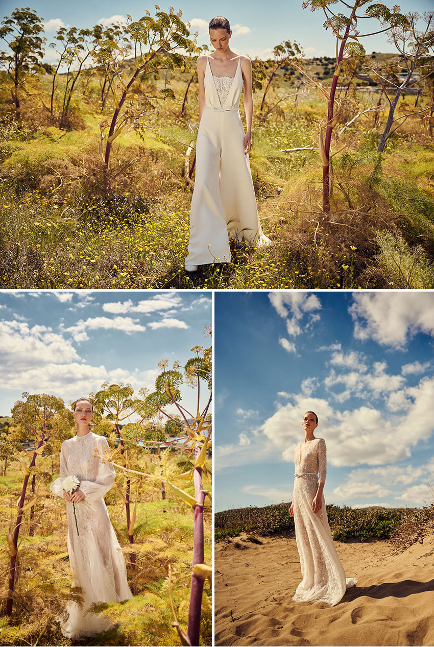 Costarellos Spring 2022 Bridal collection include ethically hand-produced garments from Europe