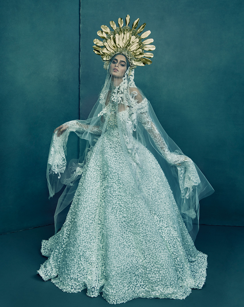 Nepal Wedding Dress Reem Acra The Love and Dreem Spring 2021 couture collection in Perfect Wedding Magazine