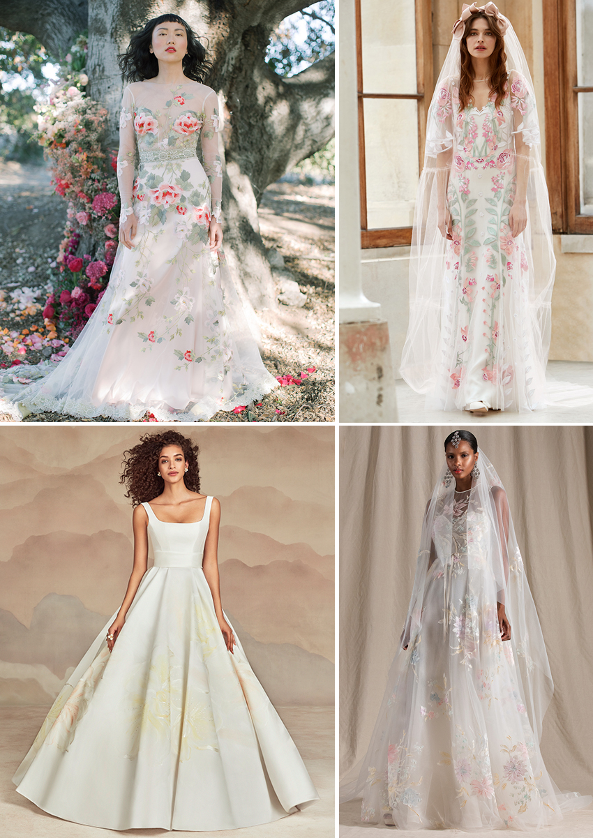 Spring 2022 Wedding Gowns with a hint of Colour featured in Perfect Wedding magazine