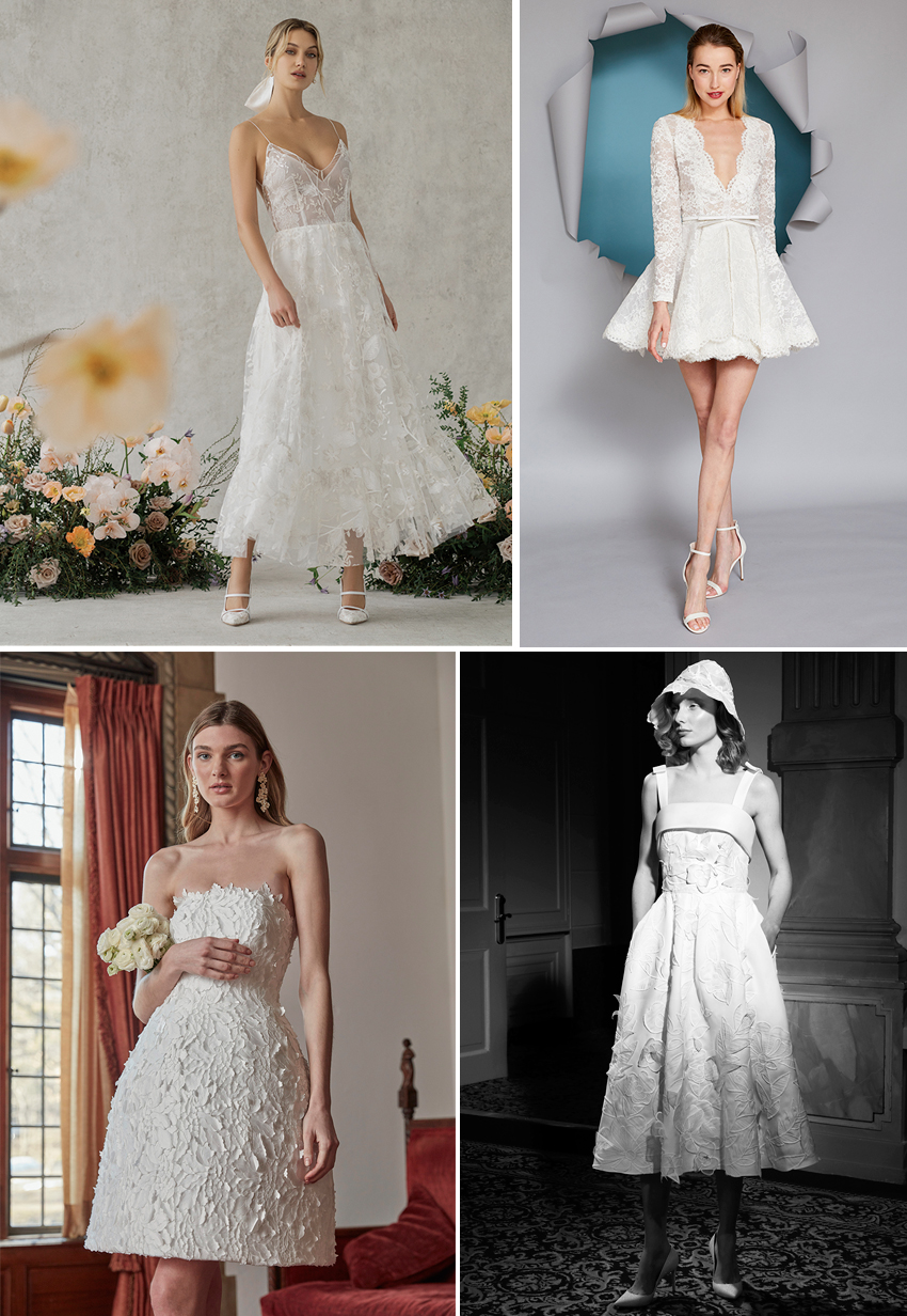 Spring 2022 Bridal Trend is Short Hemlines featured in Perfect Wedding Magazine