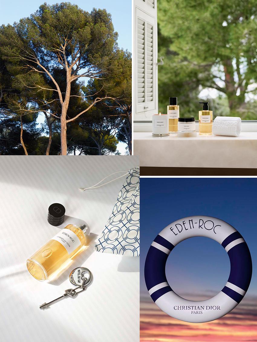Dior Eden-Roc new scent includes a candle, liquid soap and body cream
