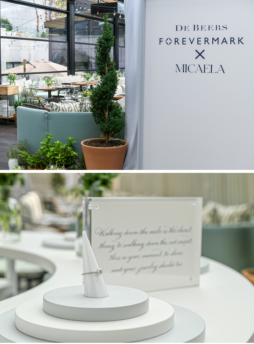 Forevermark X Micaela jewellery collection presented at the ModernHaus hotel's Veranda in the SoHo neighbourhood of New York City