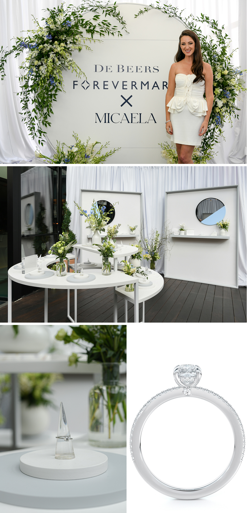 Forevermark X Micaela bridal jewellery collection