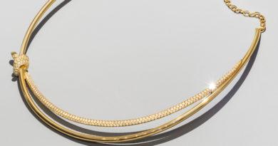 Tiffany Knot double-wrap chocker set with over 300 diamonds