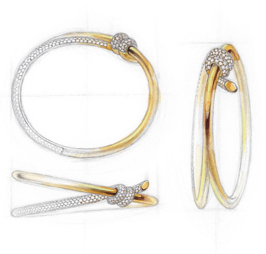 Tiffany Knot bracelet sketch