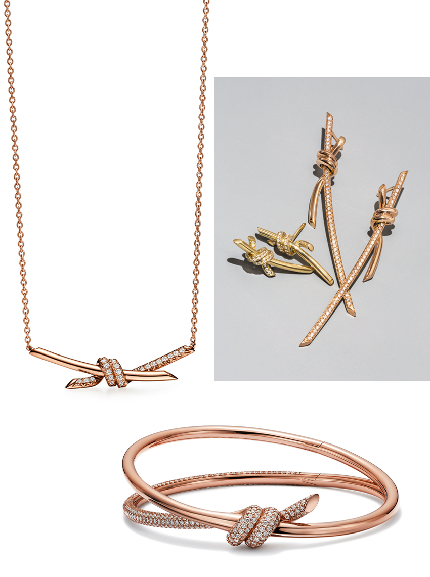 Tiffany Knot collection in Gold and Rose Gold
