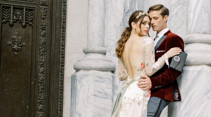 Bride and Groom fall wedding look inspiration