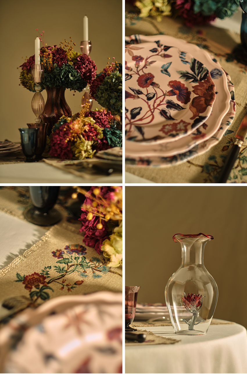 Dior Maison new tableware collection 7 Jules Sandeau inspired by the wallpaper that decorated Christian Dior's appartment