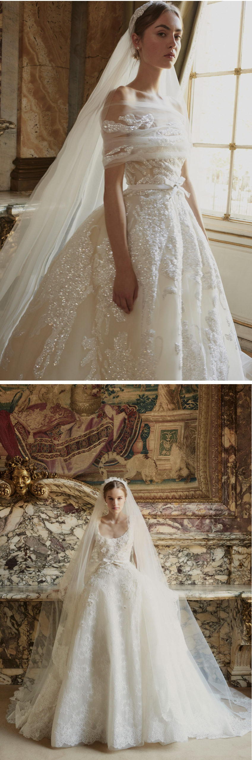 Elie Saab Fall 2022 Bridal Collection Portrait in Motion allows the bride to look majestic