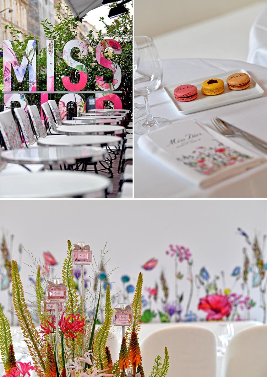 Interior décor of Miss Dior Pop-Up in Paris