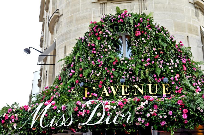 Miss Dior Pop-Up in L'Avenue restaurant in Paris